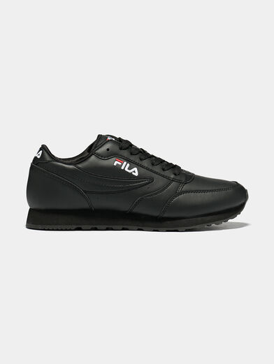 ORBIT JOGGER LOW Black sneakers with logo embroideries - 1