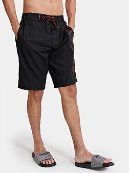 Черни шорти за плаж - 1