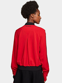 Bomber with buttoned sleeves - 3