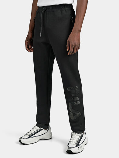 FIONN Joggers with leather logo print - 1