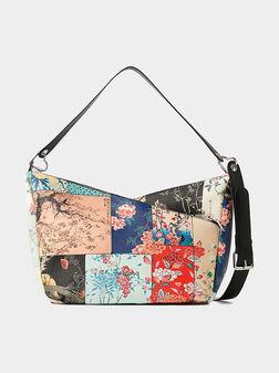 Чанта с флорален принт - 1