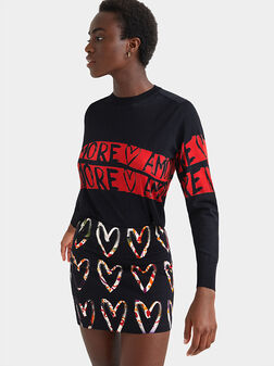 Mini-skirt cotton hearts print - 1
