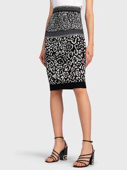Pencil skirt with animal jacquard print - 1
