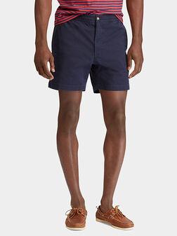Чино къси панталони в син цвят - 1
