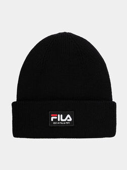 Unisex hat in black with logo patch - 1