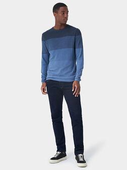 Памучен пуловер с преливащ ефект - 1