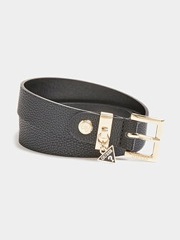 DESTINY Black belt with logo detail - 1