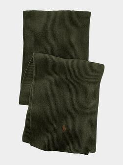 Merino scarf in green  - 1