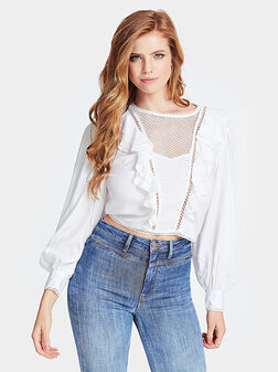 Бяла риза с бродерия DAFNE - 1