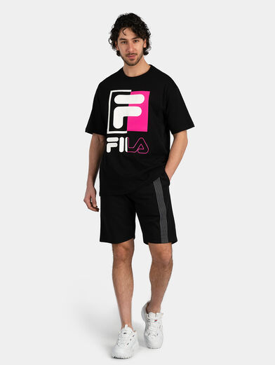 Cotton T-shirt in black - 4