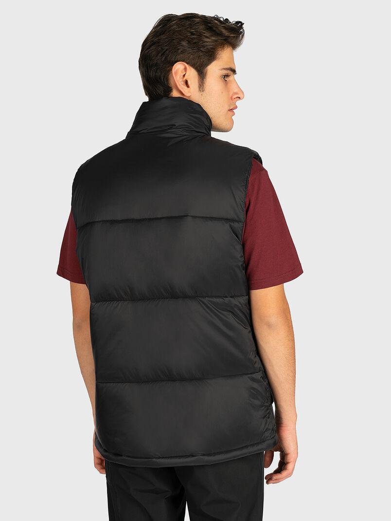 Puffer vest in black color - 3
