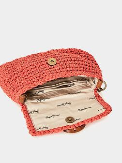 Плетена чанта LISA с велурена презрамка - 1