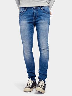 Скини дънки CHRIS в син цвят - 1