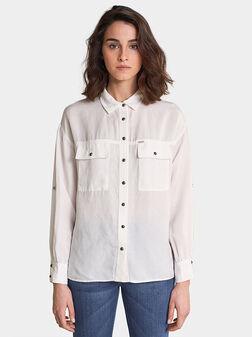 Бяла риза от лиосел - 1