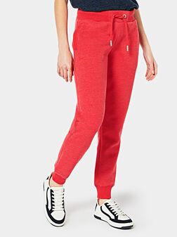 Червен спортен панталон - 1