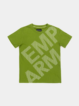 Зелена тениска с лого - 1