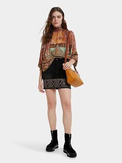 DELHI Denim skirt with embroidery - 1