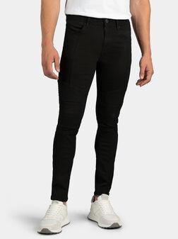 Скини дънки в черен цвят - 1