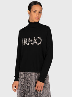 Sweater with maxi logo - 1