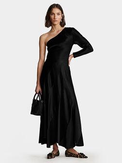 Елегантна черна рокля - 1