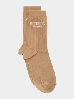 Чорапи в бежов цвят - 1