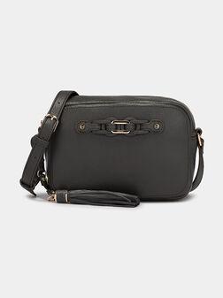 Кросбоди чанта в тъмно зелен цвят - 1