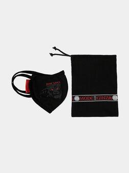 Унисекс черна памучна маска за лице - 1