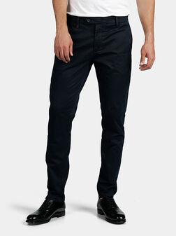 Син памучен панталон BRYAN - 1