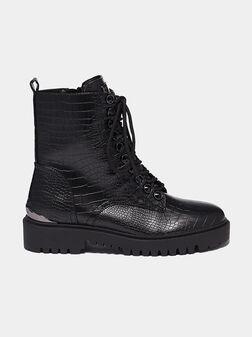OXANA Boots with crocodile texture - 1