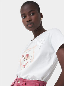 T-shirt with embroidered detail - 1