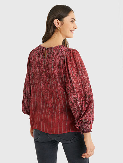 BUTTERFLY Blouse with puff sleeves - 4