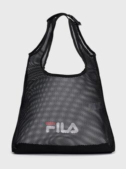 Мрежеста чанта в черен цвят - 1