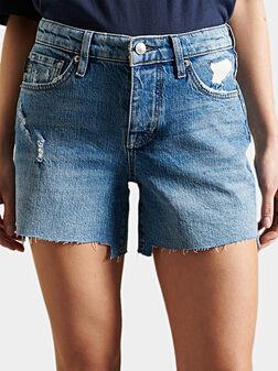 Дънков панталон с накъсвания - 1