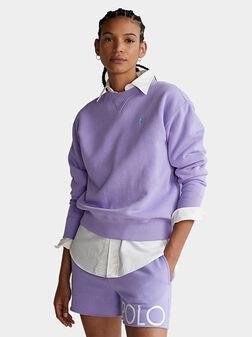 Sweatshirt with embroidered logo - 1