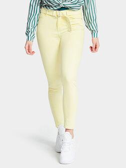 Памучен скини панталон - 1