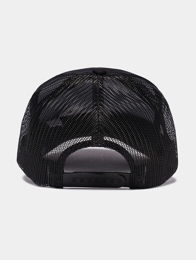 Black cap with logo print - 2