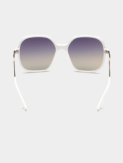 Square white sunglasses - 4