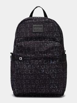 ELVIS Backpack with monogram logo print - 1