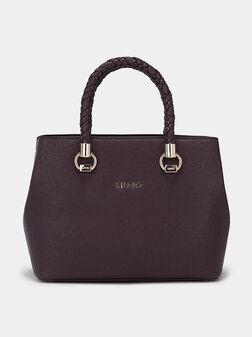 Boston bag with safiano effect - 1