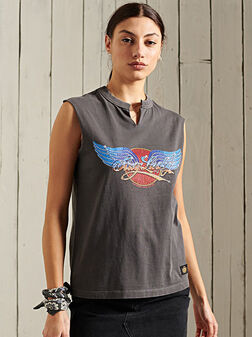 Sleeveless t-shirt - 1