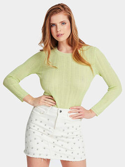 Бледо зелен пуловер GIADA - 1