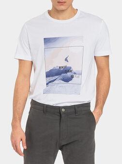 Тениска с принт - 1