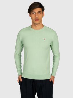 Пуловер JARRETT в зелен цвят - 1