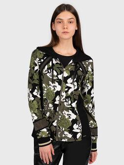 Sweatshirt with floral print - 1