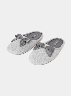 Grey slippers - 1