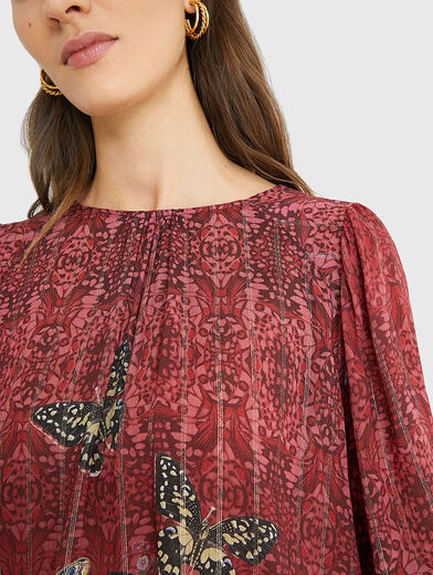 BUTTERFLY Blouse with puff sleeves - 3