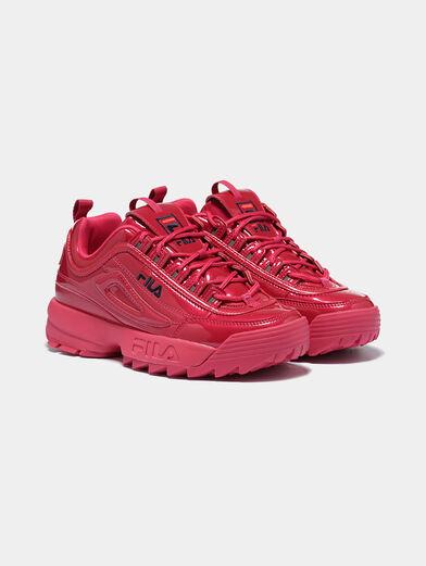 DISRUPTOR P Patent look black sneakers - 2