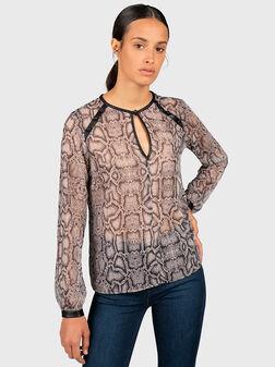 Блуза с животински принт - 1