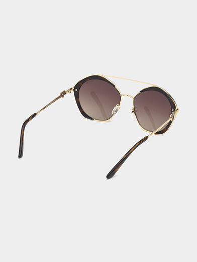 Sunglasses with brown glasses and gold frames - 5