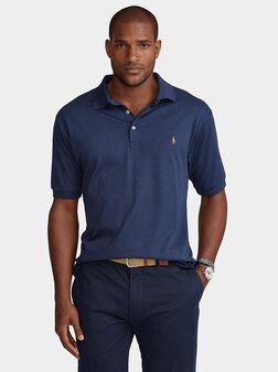 Blue polo-shirt with Pony logo - 1